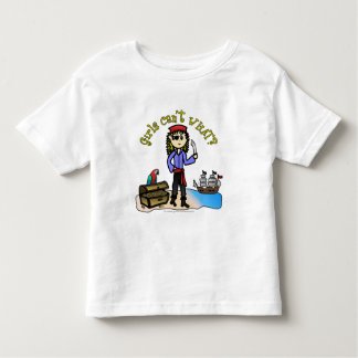 Blonde Girl Pirate T Shirt