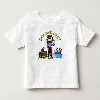 Blonde Girl Pirate Toddler T-Shirt
