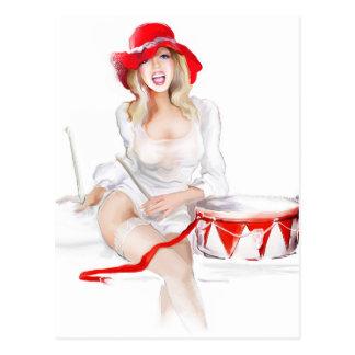 Blonde girl singer postcards