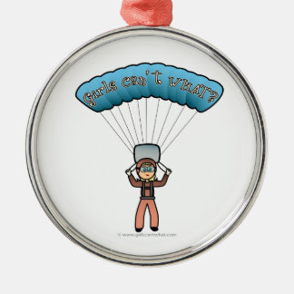 Blonde Girl Sky Diver Christmas Ornament