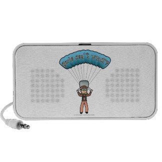 Blonde Girl Sky Diver Speaker System