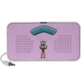 Blonde Girl Sky Diver Speaker