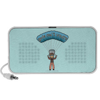Blonde Girl Sky Diver Portable Speaker