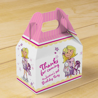 Blonde Girls 9th birthday gift thank you favor box Favour Boxes