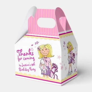 Blonde Girls 9th birthday gift thank you favor box