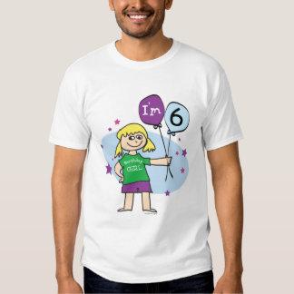 Blonde Girls I'm 6 6th Birthday T-shirt