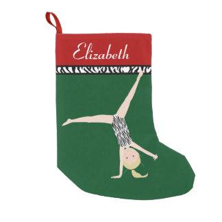 Blonde Gymnast Personalized Christmas Small Christmas Stocking