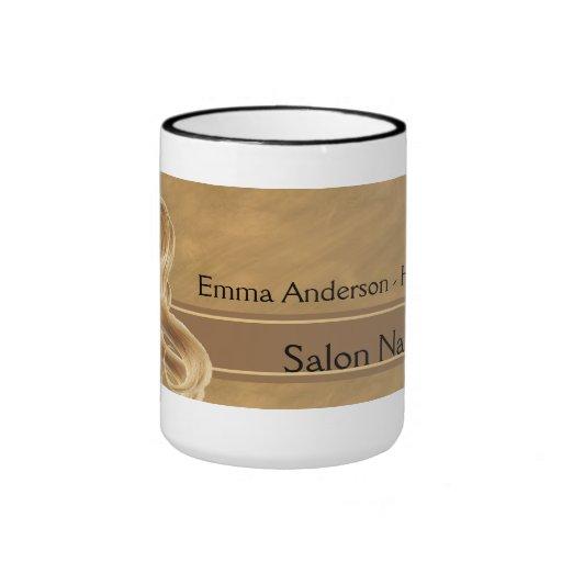 Blonde Hair Stylist Mugs