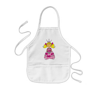 Blonde haired princess kids apron