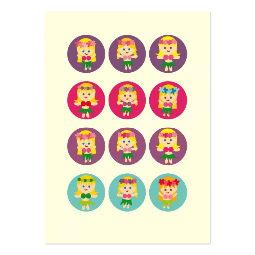 Blonde Hula Girl Pack Of Chubby Business Cards