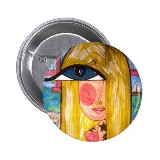 Blonde in San Francisco 6 Cm Round Badge
