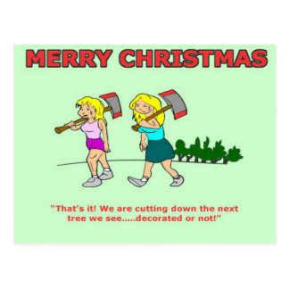 Blonde Joke Funny Christmas Card