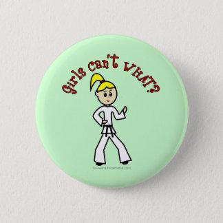 Blonde Karate Girl 6 Cm Round Badge