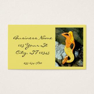 blonde lookout mermaid business card