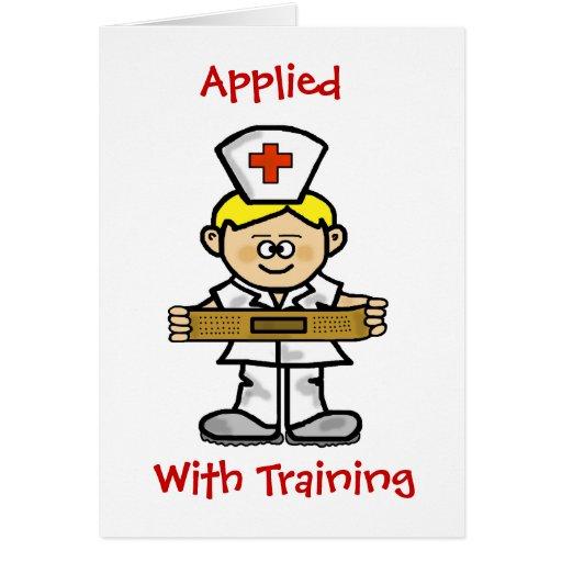 Blonde Male Nurse Greeting Card to Customize