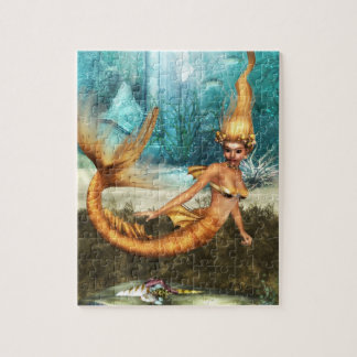 Blonde Mermaid Jigsaw Puzzle