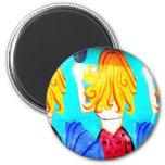 blonde mermaid magnet