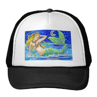 BLONDE MIDNIGHT MERMAID CAP