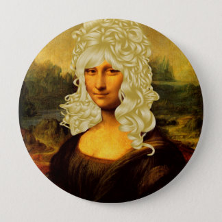 Blonde Mona Lisa 10 Cm Round Badge