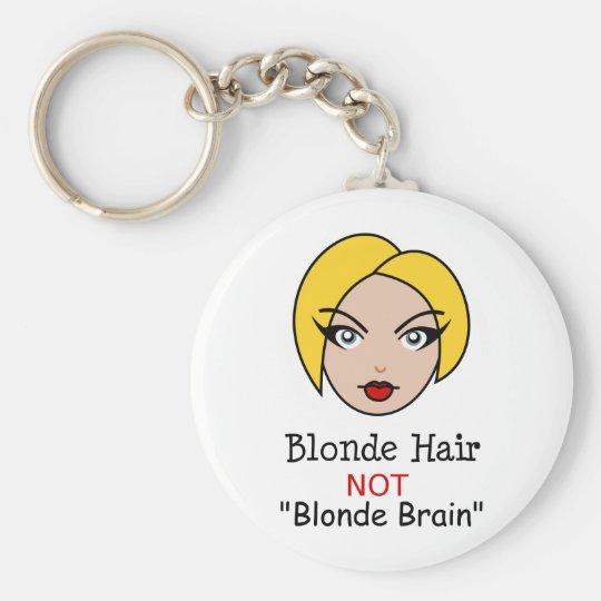 Blonde Not Blonde Basic Round Button Key Ring