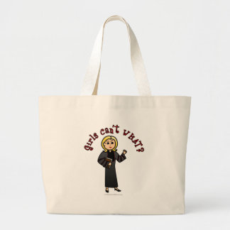 Blonde Pastor Girl Large Tote Bag