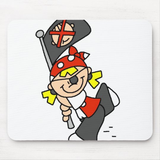 Blonde Pirate With Flag Mouse Mat