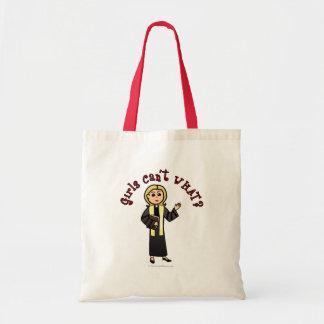 Blonde Preacher Girl Tote Bag