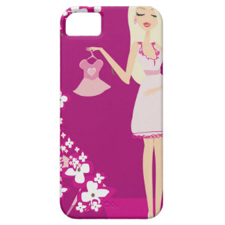 blonde pregnant woman barely there iPhone 5 case