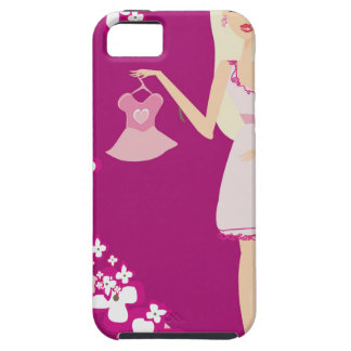 blonde pregnant woman iPhone 5 covers