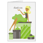 Blonde Pretty Girl Thank You Notes Cards