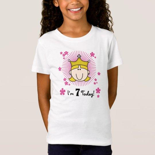 Blonde Princess 7th Birthday T-Shirt