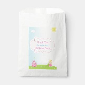 Blonde Princess Birthday Favour Bags