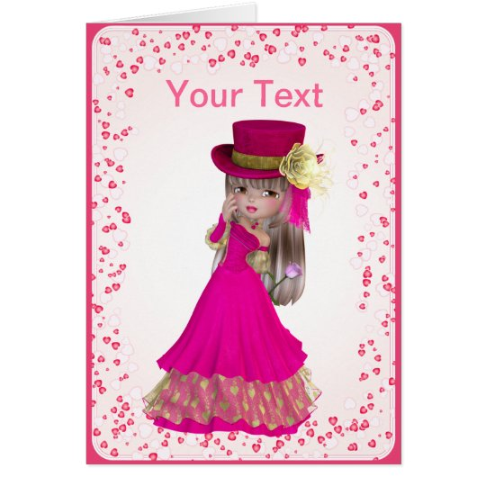 Blonde Princess Greeting Card