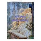 Blonde Rapunzel Waits Card