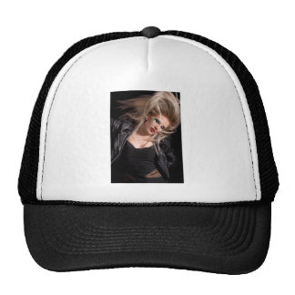 Blonde rocker woman cap