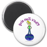 Blonde Rule The World 6 Cm Round Magnet