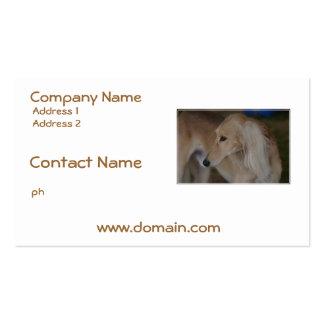 Blonde Saluki Pack Of Standard Business Cards
