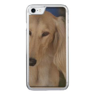 Blonde Saluki Dog Carved iPhone 7 Case