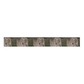 Blonde Saluki Dog Grosgrain Ribbon