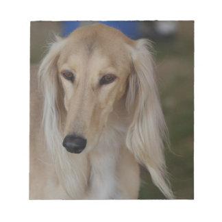 Blonde Saluki Dog Note Pad