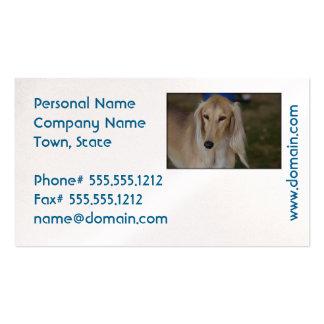 Blonde Saluki Dog Pack Of Standard Business Cards
