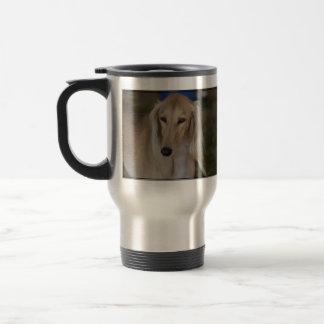 Blonde Saluki Dog Stainless Steel Travel Mug