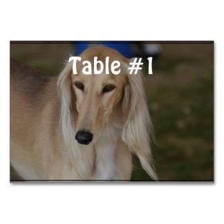 Blonde Saluki Dog Table Card