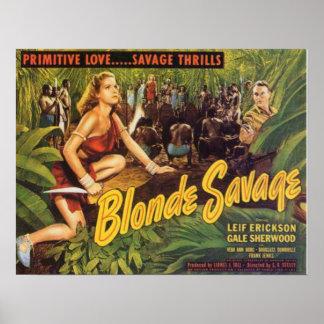 Blonde Savage Poster