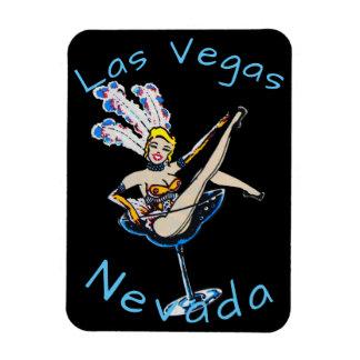 Blonde Showgirl LasVegas Nevada Magnet