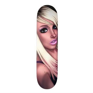 Blonde Skater Girl 19.7 Cm Skateboard Deck