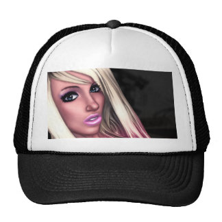 Blonde Skater Girl Cap