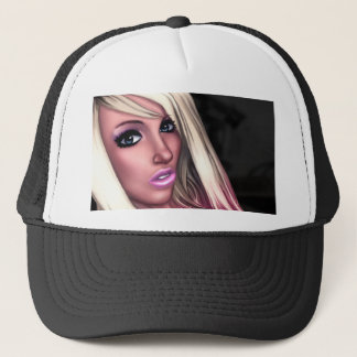 Blonde Skater Girl Trucker Hat