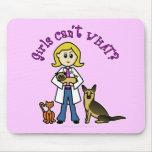 Blonde Veterinarian Girl Mouse Pad