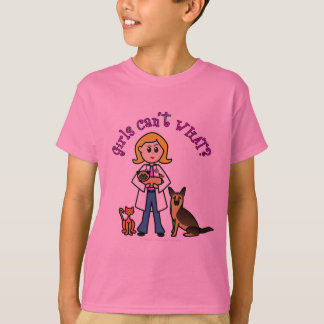 Blonde Veterinarian Girl T-Shirt